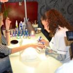 Making of, manicura media luna