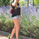 Denim shorts and Louboutin heels