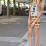 Aztec print skirt for summer
