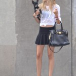 Total black and white outfit