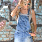 Denim overall and crop top