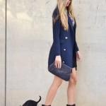 Blue blazer coat