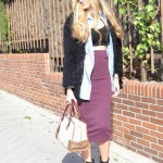 Midi skirt, cropped top and booties