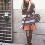 Leather skirt and biker boots