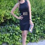 Customized black heels