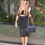 Total black and Versace fluor heels