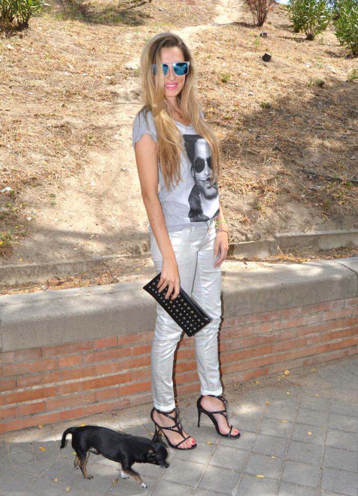 Silver_Jeans_Eleven_Paris_tshirt_Mirror_Sunnies_Guess_Sandals_Studs_Clutch_Lara_Martin_Gilarranz_Bymyheels (4)