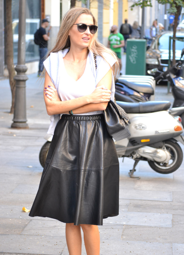 Mulaya_Leather_Skirt_Chloe_Borel_Chanel_Ray_Ban_Eleven_Paris_Lara_Martin_Gilarranz_Bymyheels (1)