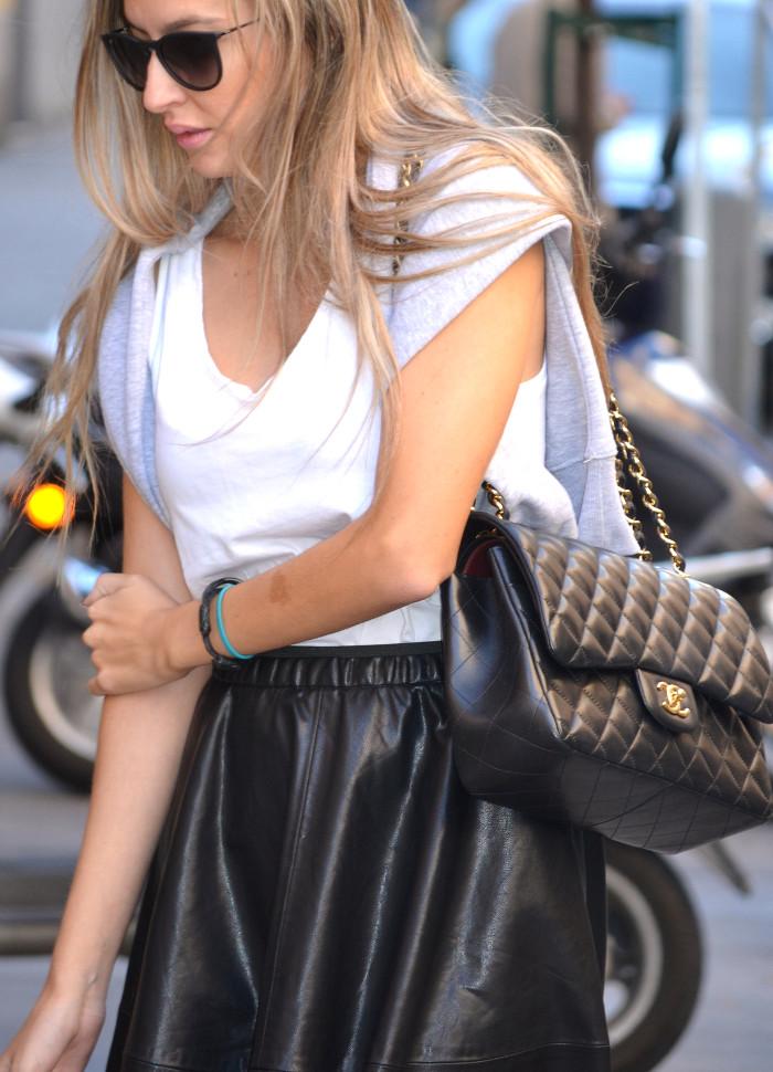 Mulaya_Leather_Skirt_Chloe_Borel_Chanel_Ray_Ban_Eleven_Paris_Lara_Martin_Gilarranz_Bymyheels (3)