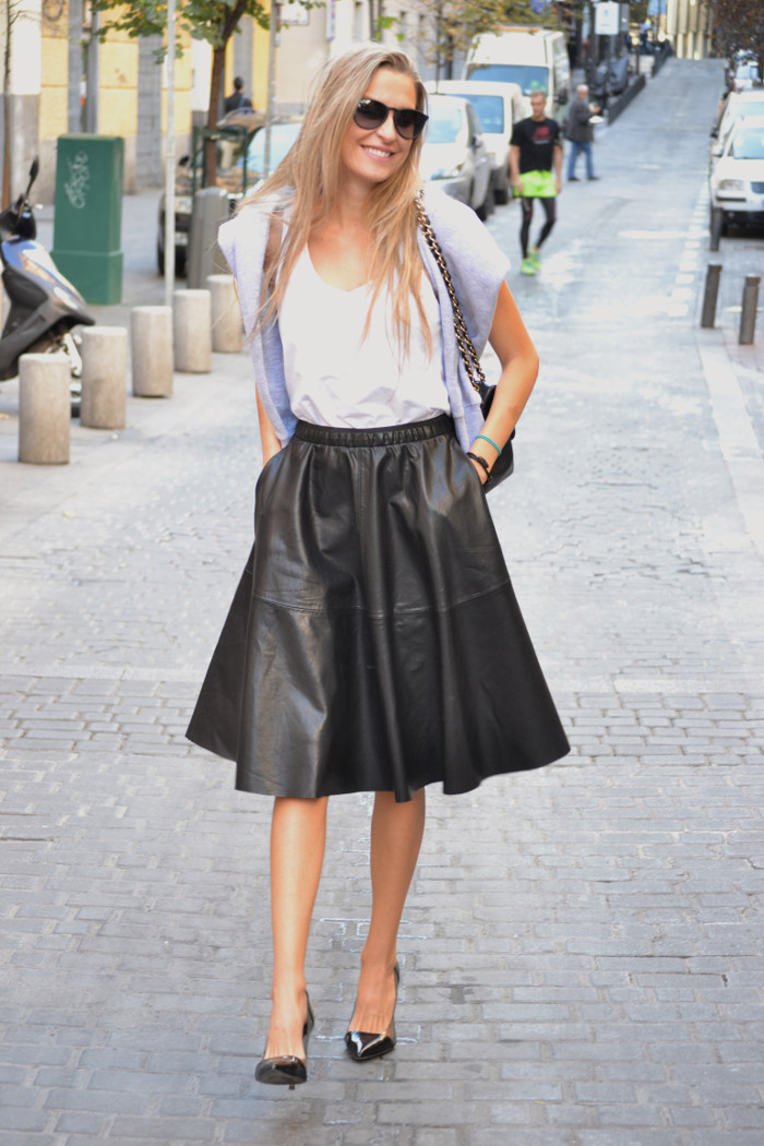 Mulaya_Leather_Skirt_Chloe_Borel_Chanel_Ray_Ban_Eleven_Paris_Lara_Martin_Gilarranz_Bymyheels (7)