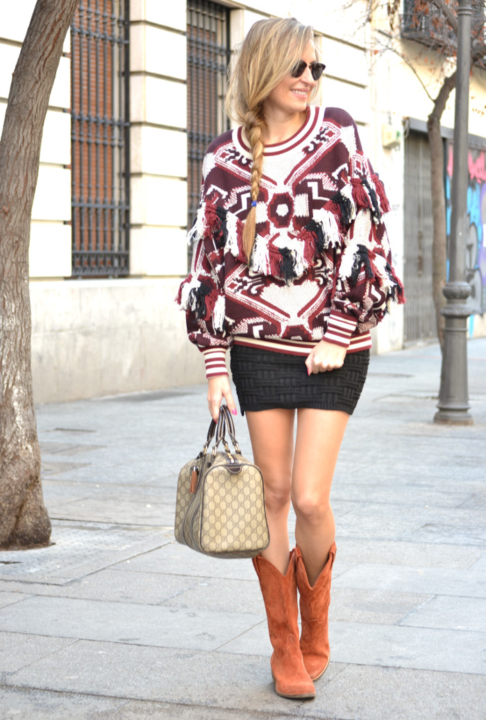 Aztec_Print_Sweater_Zara_Clubmaster_Ray_Ban_Botas_Boston_Bag_Gucci_Falda_Negra_Lara_Martin_Gilarranz_Bymyheels (7)