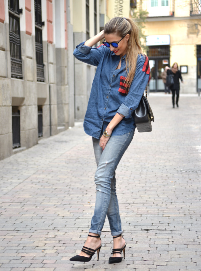 Camisa_Vaquera_Cuadros_Venca_Wantlook_Jumbo_255_Chanel_Pantalon_Rolex_Lara_Martin_Gilarranz_Bymyheels (5)