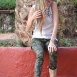 Camo and tank top