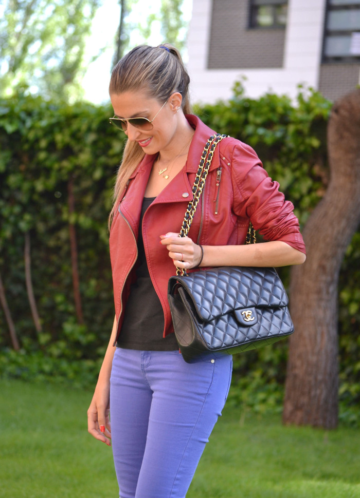 Jeans_Capri_Primark_Zara_Jumbo_Chanel_Guess_Leather_Perfecto_Jacket_Lara_Martin_Gilarranz_Bymyheels (1)