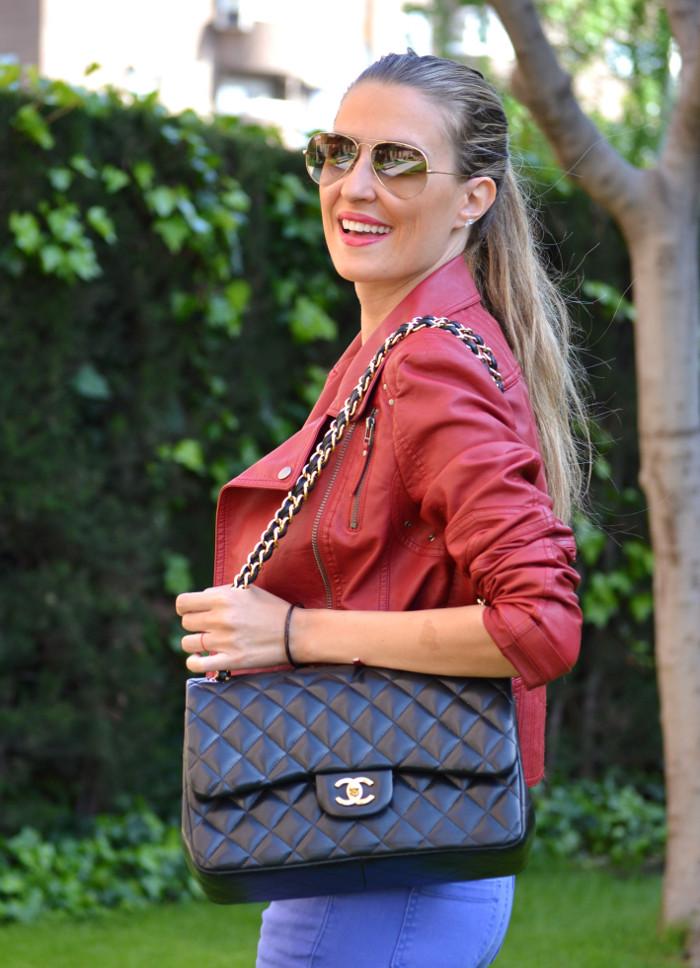 Jeans_Capri_Primark_Zara_Jumbo_Chanel_Guess_Leather_Perfecto_Jacket_Lara_Martin_Gilarranz_Bymyheels (7)
