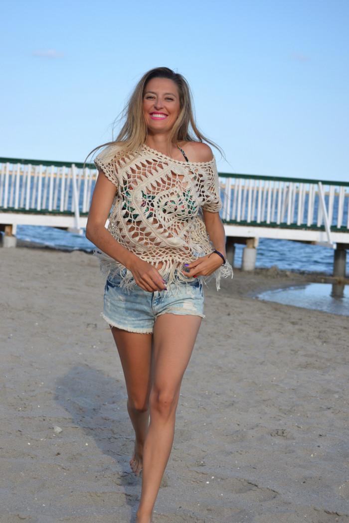 C&A_Crochet_Denim_Shorts_Flowers_Print_Cap_Beach_Fun_Lara_Martin_Gilarranz_Bymyheels (9)