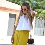 Mustard long skirt