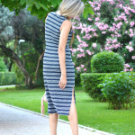 Stripes dress and Christian Louboutin heels