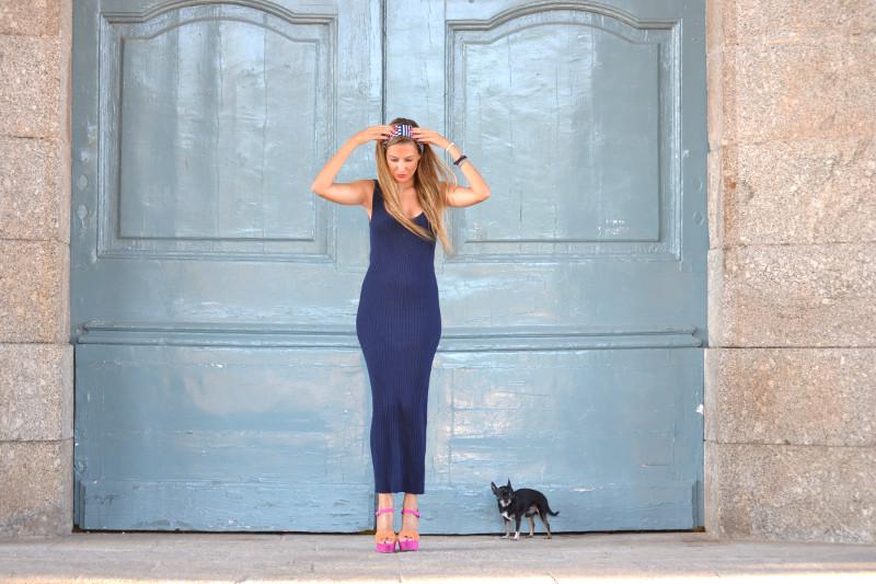 Knit_Long_Dress_Blue_Zara_Pink_Fluor_Chihuahua_Lara_Martin_Gilarranz_Bymyheels (4)