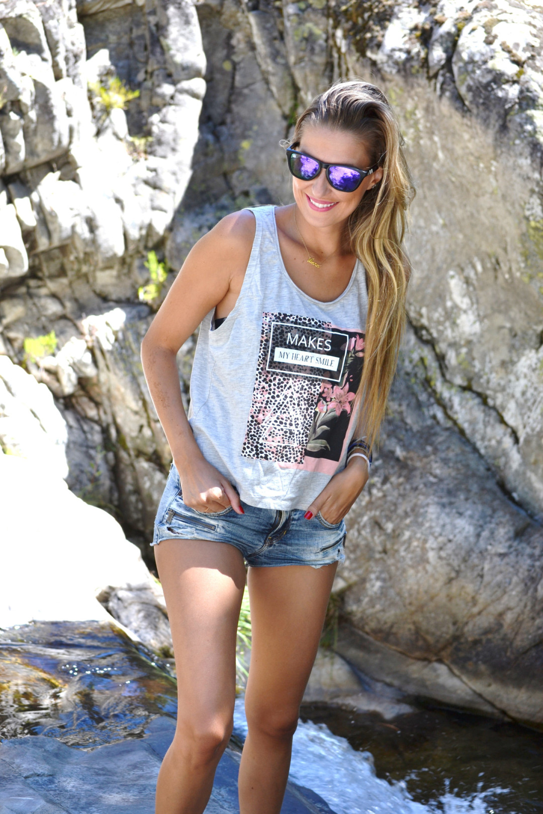Shorts_Tank_Top_Guess_Lara_Martin_Gilarranz_Bymyheels_Blenders_Nature (2)