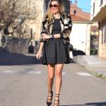 Oxygene Dress and Fur Coat