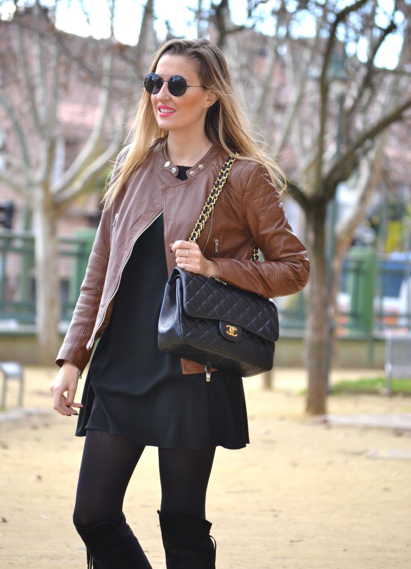 Black_Brown_Biker_Jumbo_Chanel_Lara_Martin_Gilarranz_Salsa_Jeans_Primark_Bymyheels (2)