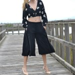 Palazzo pants and cropped