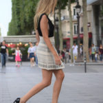 Asimetric skirt in Paris